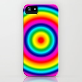 Psychedelic Rainbow Circles Pattern  iPhone Case
