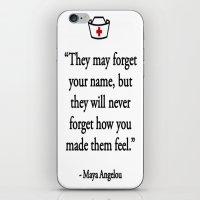 nurse iPhone & iPod Skins featuring NURSE by I Love Decor