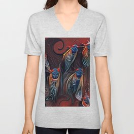 Cicada on a Tree Unisex V-Neck