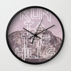 Run To The Hills Wall Clock