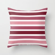Dusky Pink Berry Stripes Throw Pillow