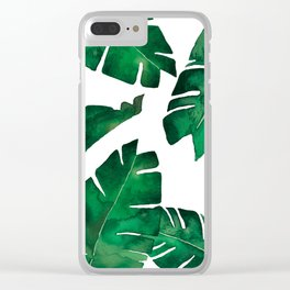 Banana leafs Clear iPhone Case