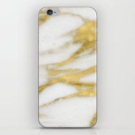 Bari golden marble iPhone Skin