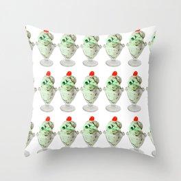 Pistachio Ice Cream Pattern Throw Pillow