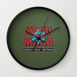 Israeli Krav Maga Magen David Wall Clock