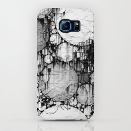 Glitch Black & White Circle abstract iPhone Case