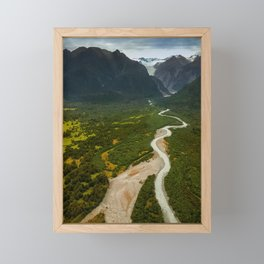 New Zealand - Flying through the Fox Glacier valley Framed Mini Art Print
