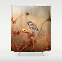 sparrow Shower Curtains featuring The Sparrow by ThePhotoGuyDarren
