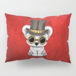 Steampunk Baby Polar Bear Pillow Sham