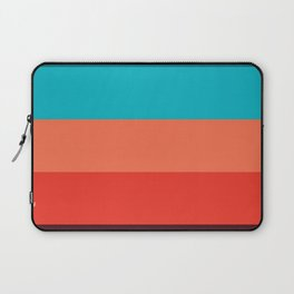 Exotic bright colorful Bohemian Chic teal burgundy Turquoise Orange Stripes Laptop Sleeve