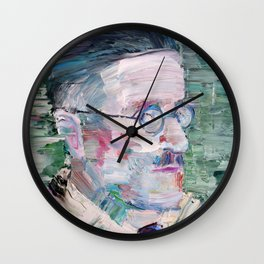 JAMES JOYCE oil portrait.1 Wall Clock