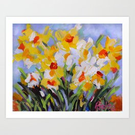 Daffodil Tangle Art Print