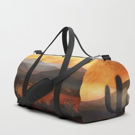 Desert in the Golden Sun Glow Duffle Bag