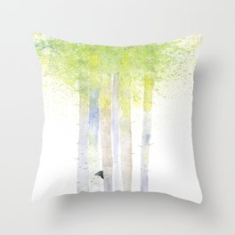 HIDE AND SEEK BIRCH FOREST Throw Pillow