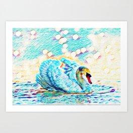 Swan Life | Painting Art Print
