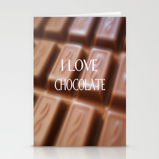 I LOVE CHOCOLATE Stationery Cards