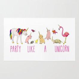 Party Like A Unicorn Rug
