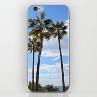 palm trees iPhone & iPod Skins featuring Palm Trees by Rebecca Bear