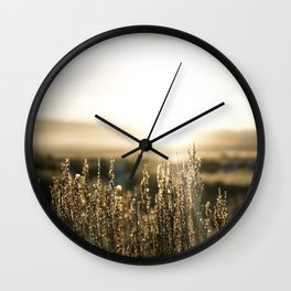 Wide Open Wyoming Wall Clock