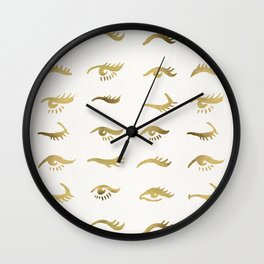 Mascara Envy – Gold Palette Wall Clock