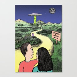 Free Weed and Snacks Canvas Print