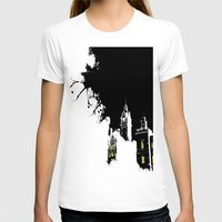 edinburgh T-shirts featuring Edinburgh by night by Slug Draws