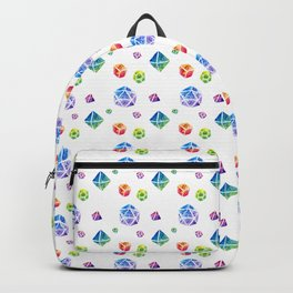 Watercolor Dice Backpack