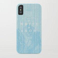 as white as snow iPhone X Slim Case