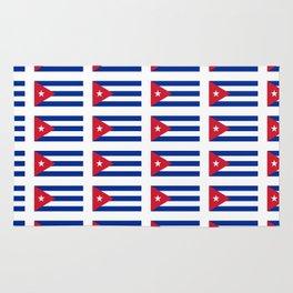 Flag of Cuba 2 -cuban,havana, guevara,che,castro,tropical,central america,spanish,latine Rug