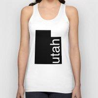 utah Tank Tops featuring Utah by Isabel Moreno-Garcia