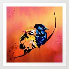 Cuddle Birds Art Print