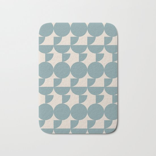 Mid Century Inspired Geometric Shapes in Soft Grey Blue by junejournal