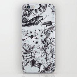 Snakes in bloom iPhone Skin