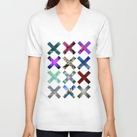 holographic V-neck T-shirts featuring XXX by Sara Eshak