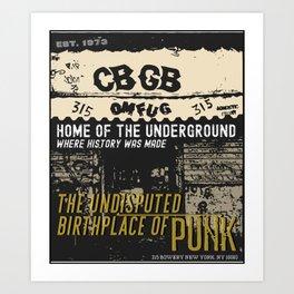 Home of The Underground Art Print