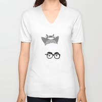 hayao miyazaki V-neck T-shirts featuring Miyazaki, 1941 by Jarvis Glasses