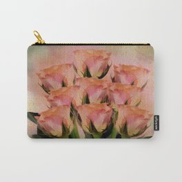 Poetic Romance Rose Abstract - Painterly Carry-All Pouch