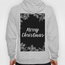 Merry Christmas Black and White Hoody