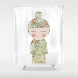 japan animation (travel) Shower Curtain
