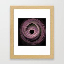 Valentine's Fractal IV - Dark Framed Art Print