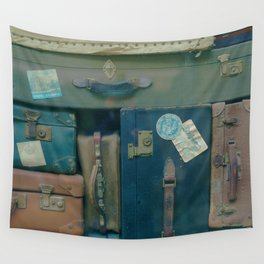 Vintage Suitcases (Color) Wall Tapestry