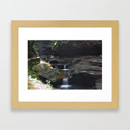 Waterfall at Glens Falls Framed Art Print