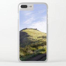 Sunny Mountain Sunrise Clear iPhone Case