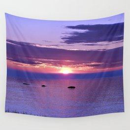 Colorful Cloudy Sunset  Wall Tapestry