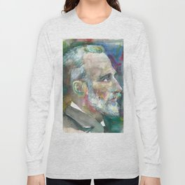 PIERRE CURIE - watercolor portrait Long Sleeve T-shirt