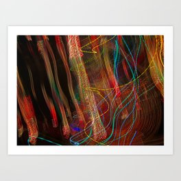 Dancing lights Art Print