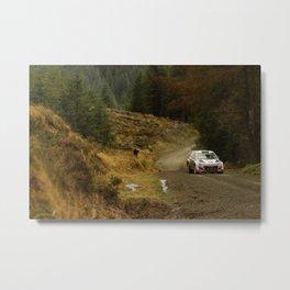 Hyundai I20 WRC at Wales Rally GB  Metal Print