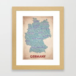 Germany Framed Art Print