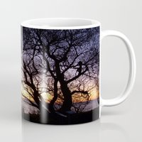 sweden Mugs featuring Sunset at Lomma, Sweden  by Sarah Osterman