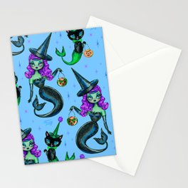 Mermaid Witch with Merkitten Stationery Cards